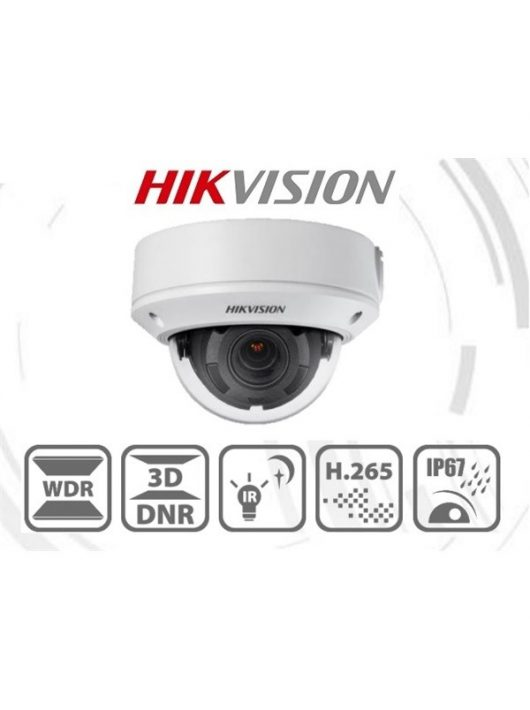 Hikvision IP dómkamera - DS-2CD1743G0-IZ (4MP, 2,8-12mm, kültéri, H265+, IP67, IR30m, ICR, WDR, 3DNR, PoE, IK10)